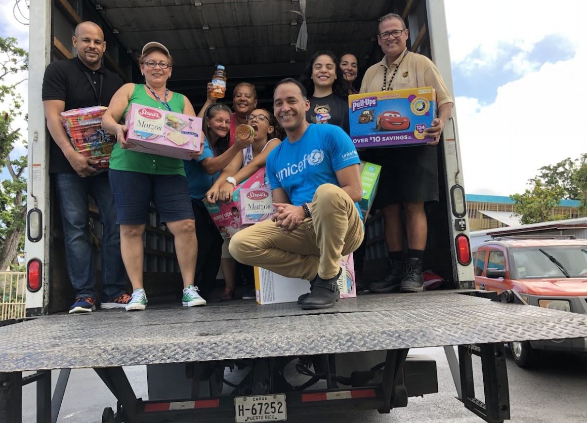 UNICEF USA and UPS teamed up to deliver much needed supplies to the people of Puerto Rico in the weeks and months after Hurricane Maria hit in 2017.