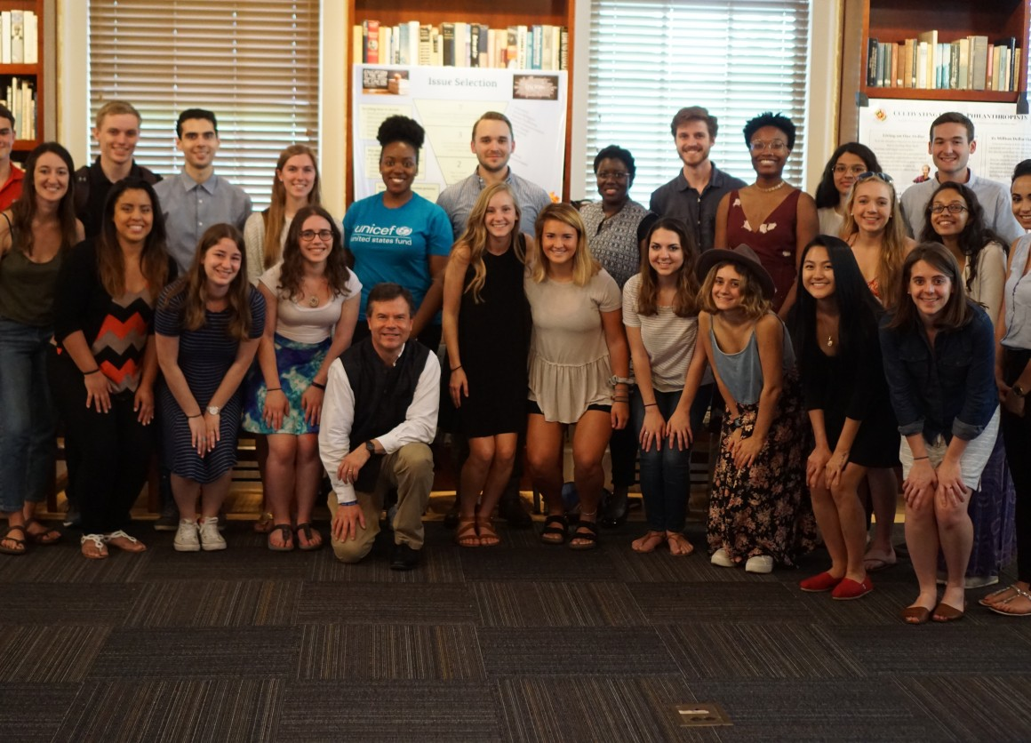 University of Maryland Philanthropy Class gives grant to UNICEF