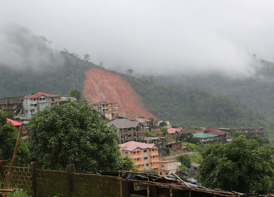 Communities in Sierra Leone have been engulfed in a mudslide and flood. Hundreds have died and thousands of displaced children are in need of water and sanitation.