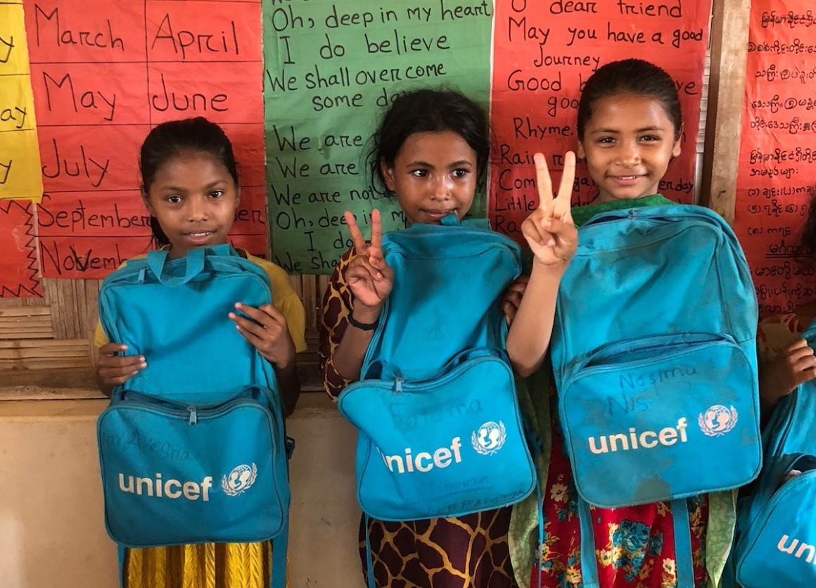 UNICEF, Rohingya refugees, Bangladesh, Cox's Bazar, education, educating girls, humanitarian relief