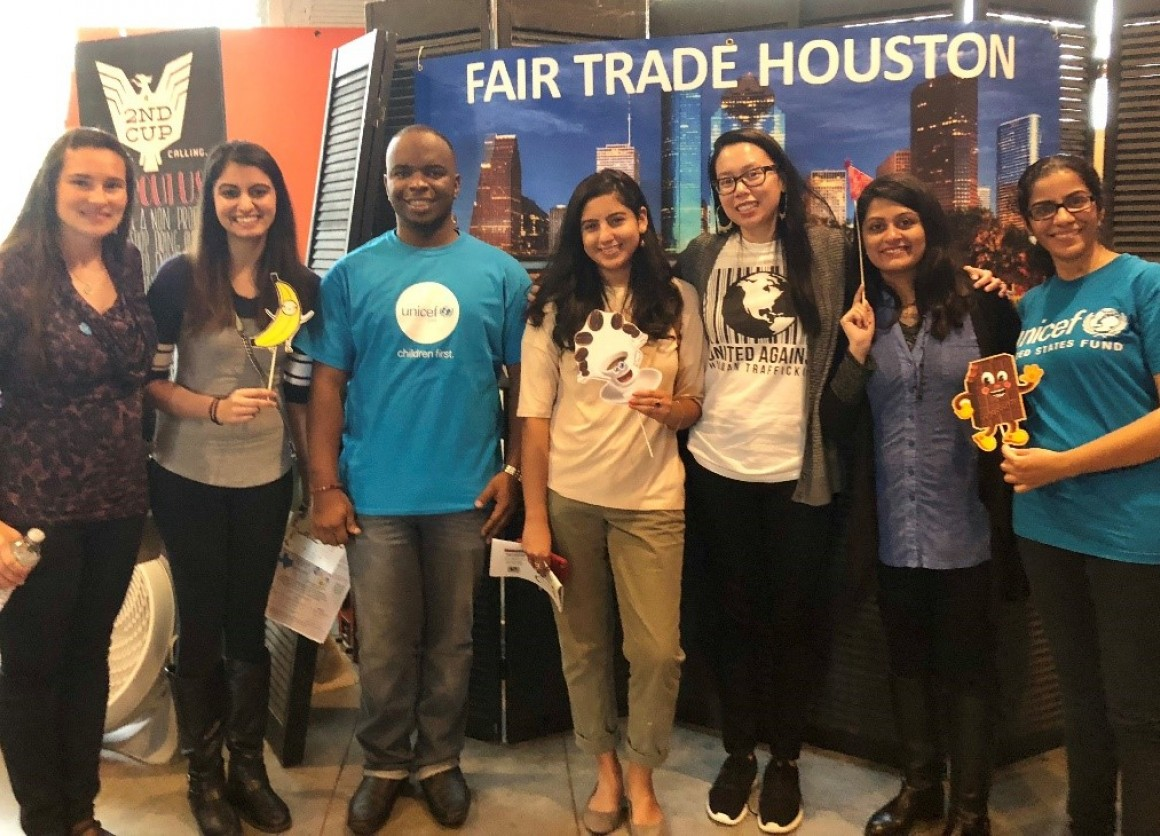 "Houston Congressional Action Team attends ""Fair Trade Fiesta."""
