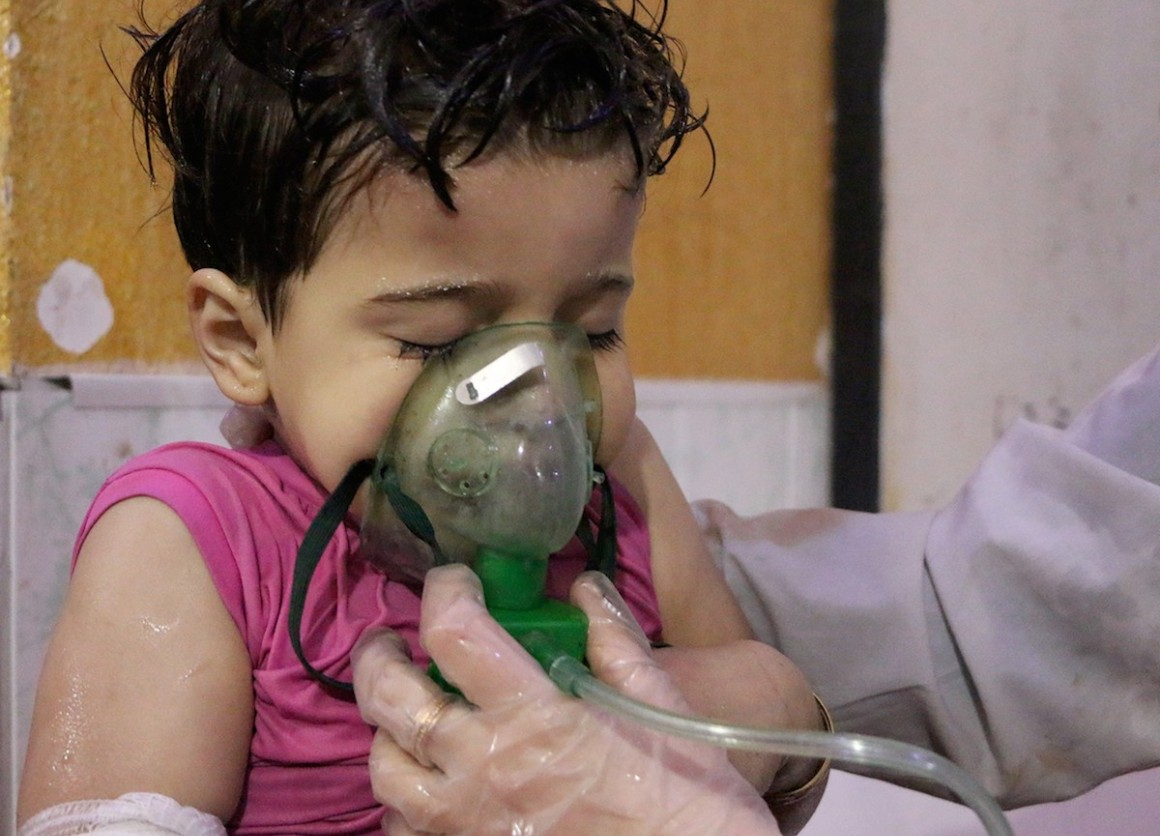 At least 42 people died trapped in their homes in a reported poison gas attack in Douma, Syria. More than 500 were injured.