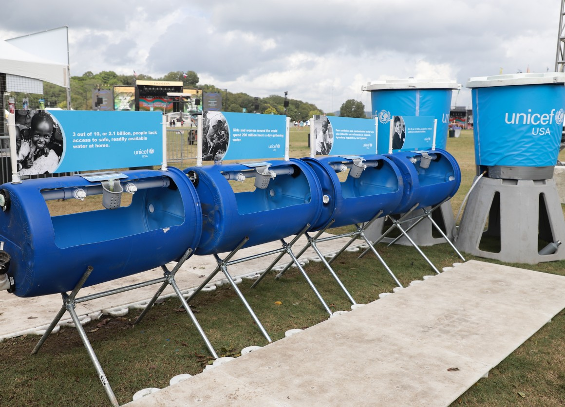 UNICEF Water station