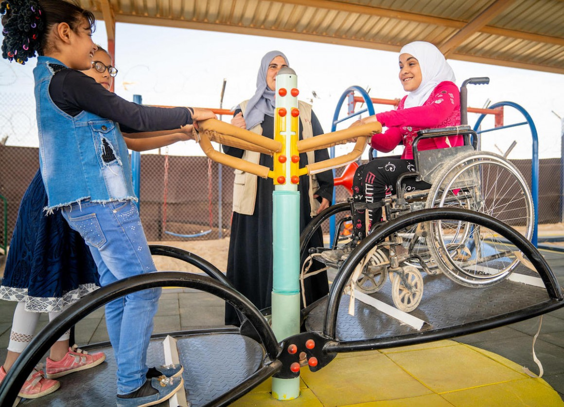 Unicef, Za'atari Refugee Camp, inclusive playground