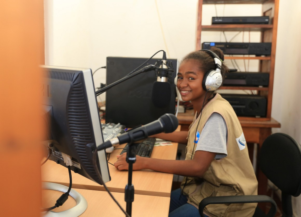 Christella, 16, is a member of the UNICEF-sponsored Junior Reporters Club in Tôlanaro, Madagascar.