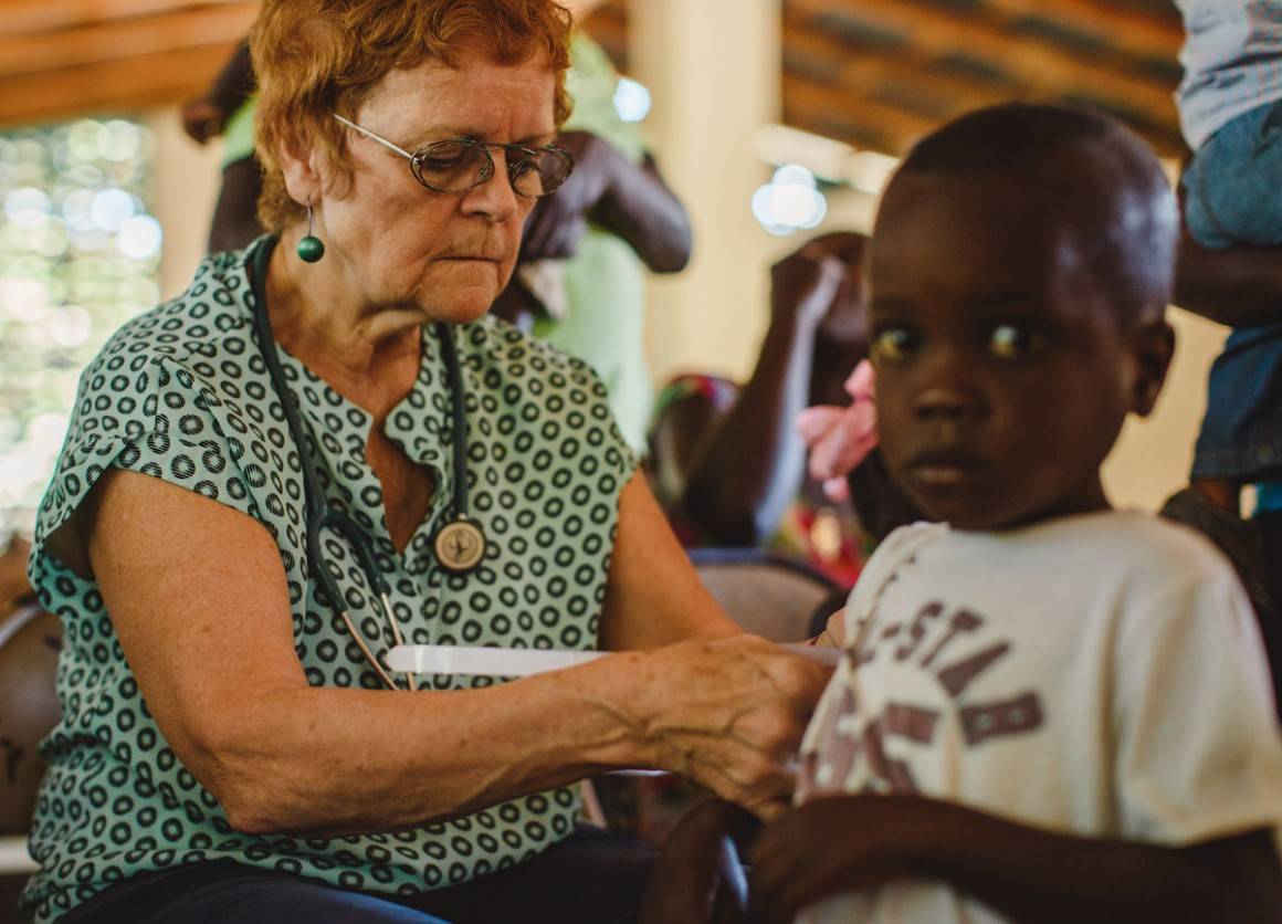 Meds & Food for Kids founder Dr. Patricia B. Wolff has been treating malnourished chilidren in Haiti since 1988.