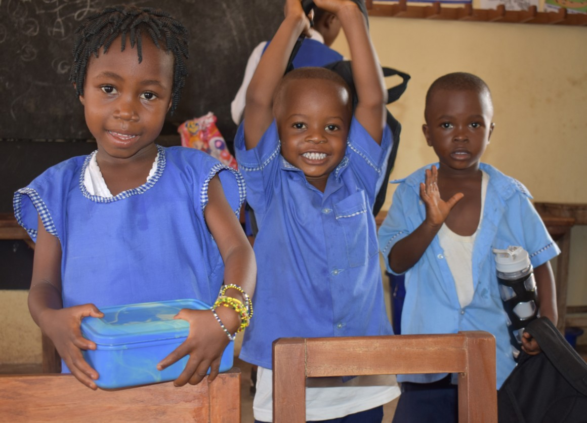 Children at a UNICEF-supported Early Childhood Development Center in Tonkolili District, Sierra Leone