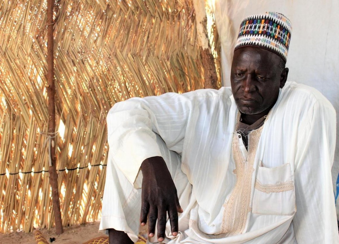 Three of Ali Mustafa's daughters were abducted when an armed group attacked his village in Mafa, Nigeria in 2015.