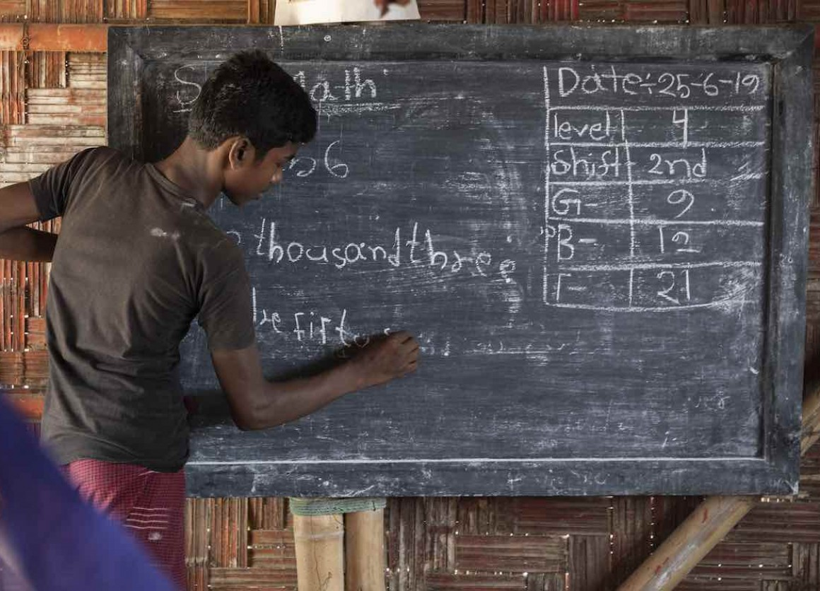 UNICEF aims to eventually reach 260,000 children with education in 2019 through an extended network of 2,500 learning centers run by 5,000 teachers and Rohingya volunteers.
