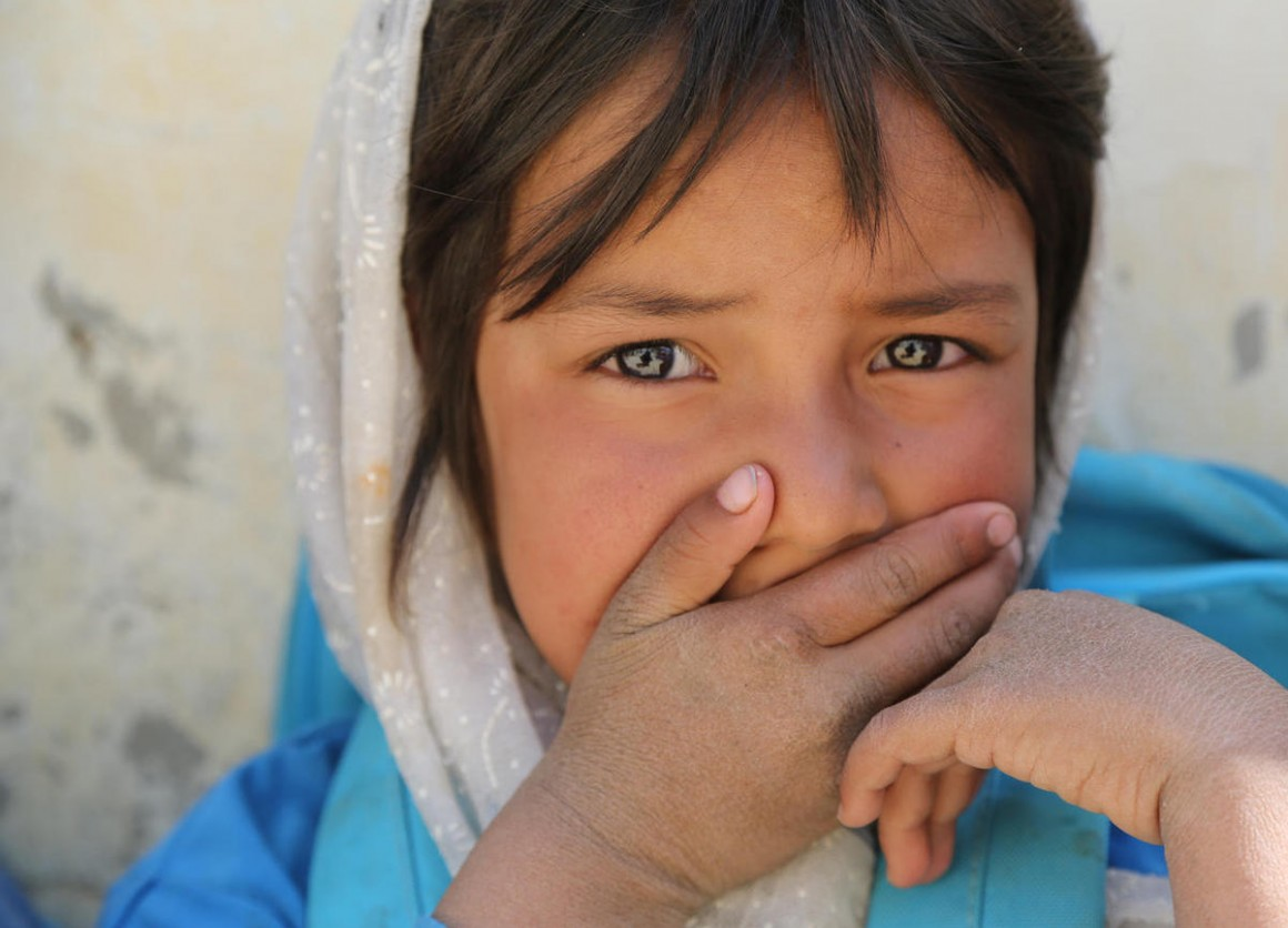 After 40 years of conflict, generations of children in Afghanistan —like this girl photographed in Daykundi Province in October 2019 —have no memory of peace.