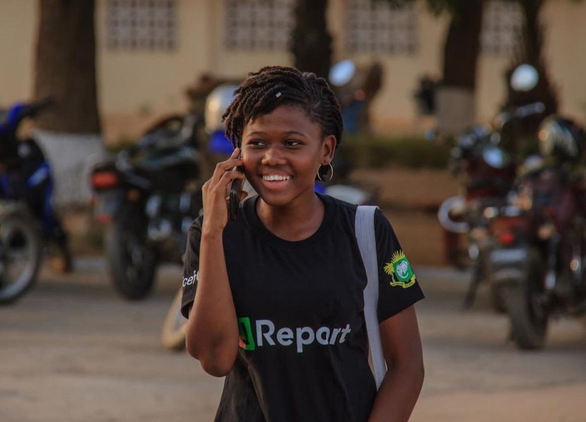 In Cote d'Ivoire, U-reporters consider themselves part of a movement.