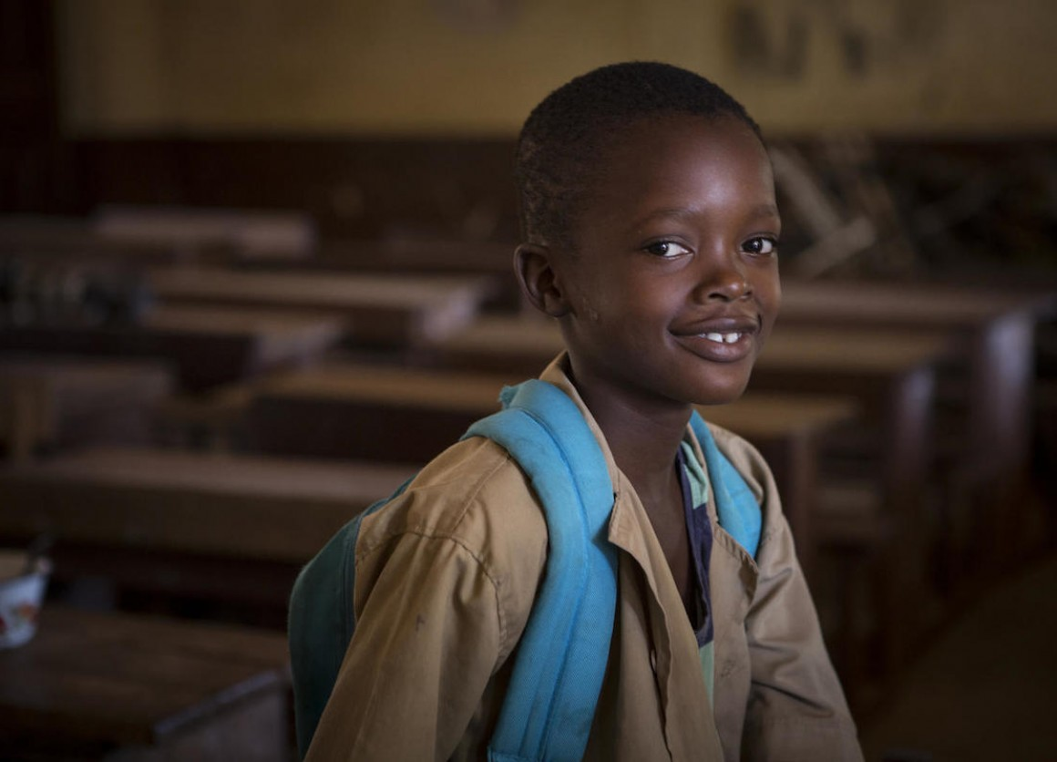 A boy from Guinea who received UNICEF support during and after the Ebola outbreak in 2015.