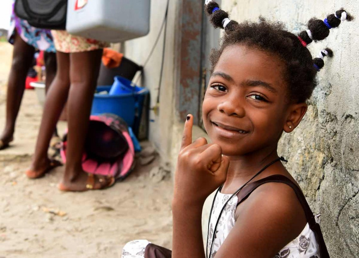 UNICEF is vaccinating children against polio in Gonzagueville, a suburban of Abidjan, in the South of Côte d'Ivoire.