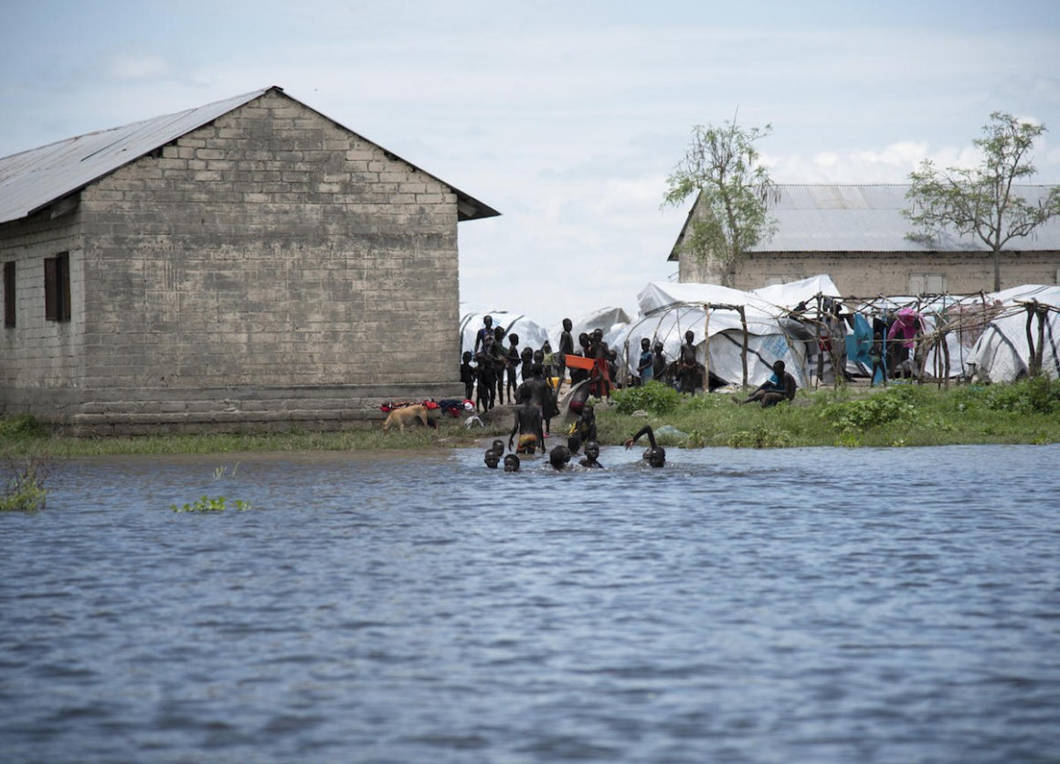 Early and heavy seasonal rains have caused severe flooding in several parts of South Sudan. In Pibor, many people have taken shelter in and outside the school.