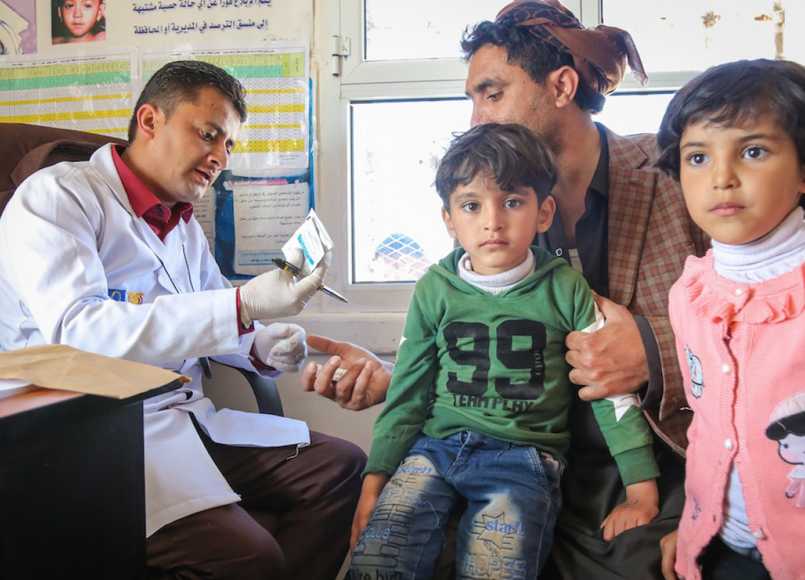 UNICEF is responding to the crisis in Yemen in part by delivering urgently needed health care to children.