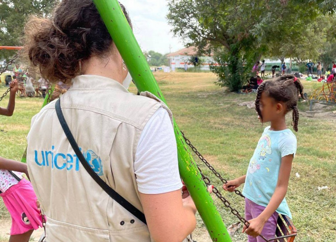 A UNICEF team is in Cuidad Acuña, Coahuila, to evaluate the situation of Haitian children and families of Haitian origin who have entered Mexico from the United States.
