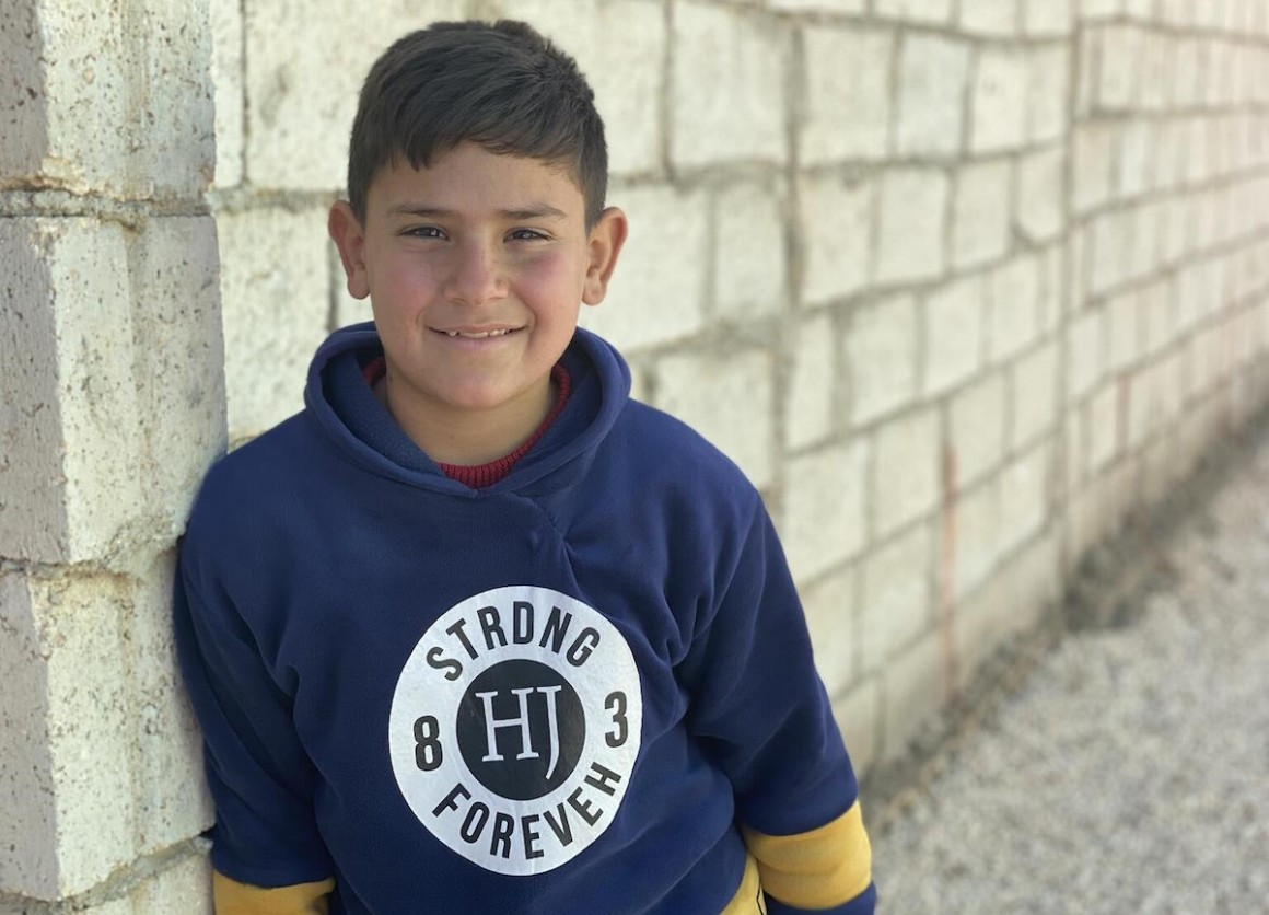 Ali, 10, is a Syrian refugee living in Mafraq, Jordan with his four brothers, two sisters and parents.