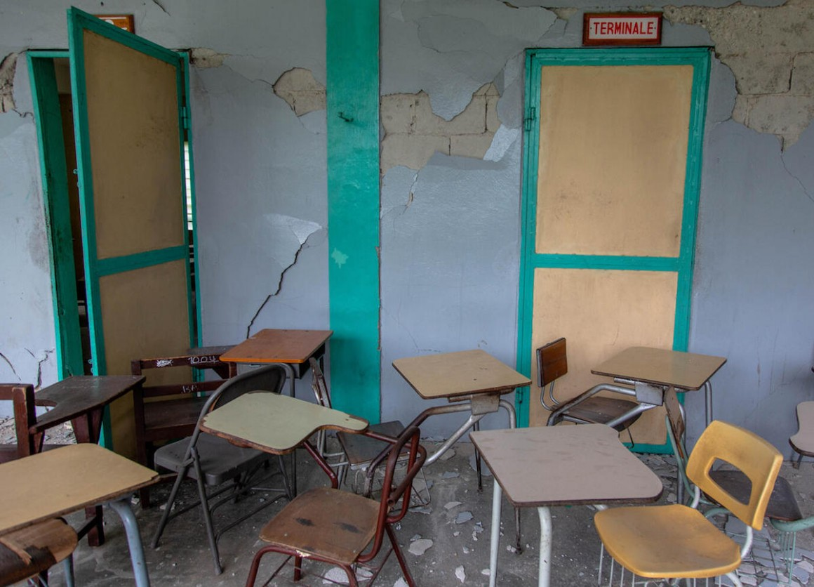 Haiti's 7.2 magnitude earthquake on August 14, 2021 damaged many schools, including College Mazenod in Camp-Perrin, Les Cayes.