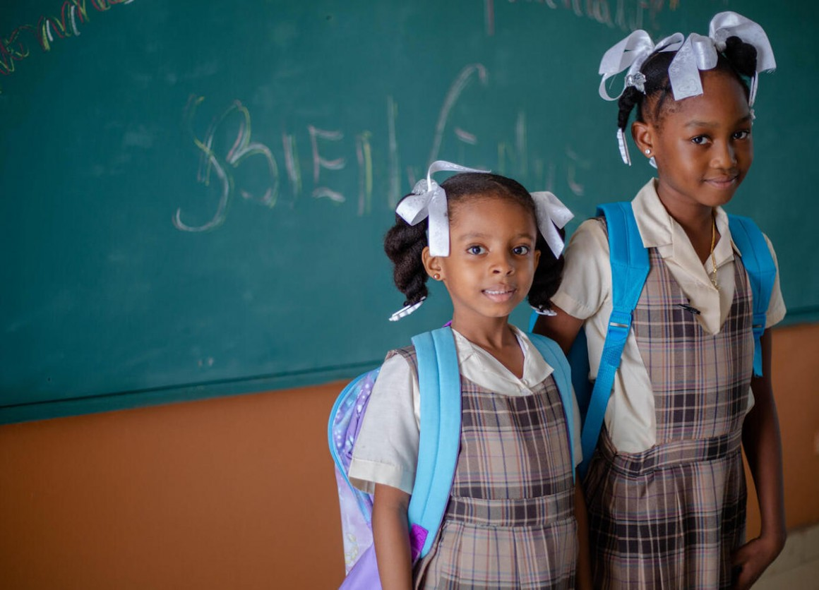 A back-to-school took place on October 4, 2021 at Saint Anne School in Les Cayes, Haiti.