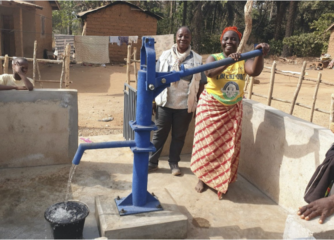 Another new safe water access point opens in a village in Guinea.