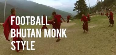 Child monks in Bhutan play soccer in this UNICEF video.