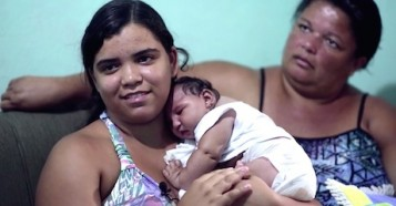 Meet Baby Duda, a Brazilian girl born with Zika-associated microcephaly.