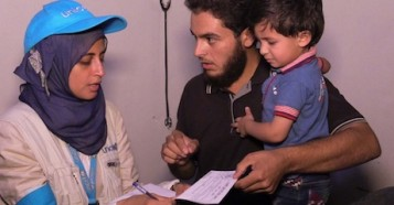 """UNICEF nutritionist Dr Rajia Sharhan says, """"We had not been able to enter Madaya since late April. I was in here in January, when children were starving, and when despite our frantic efforts we watched one young man die right before our eyes."""""""