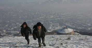 Extreme air pollution creates health risks for children in Mongolia.