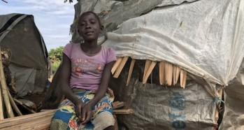 Ngoy saw her mother killed when pygmies invaded her village in the Democratic Republic of Congo. Now she lives with neighbors in a camp for displaced persons.