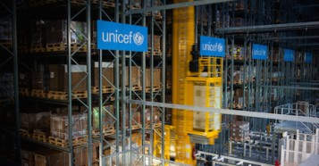 UNICEF supply warehouse in Copenhagen Denmark