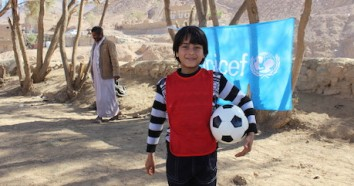 unicef, unicef usa, yemen, soccer, play, displaced children, refugee children
