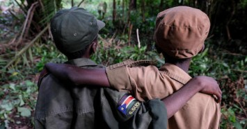 Ganiko, 12, and Jackson, 13, were among the more than 200 children released by armed groups in South Sudan on April 17, 2018.