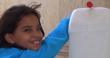 When shelling and bombing drove 10-year-old Hiba and her family from their home in Homs, Syria, the burden of fetching water fell to her.