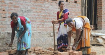 Women in India's Jharkhand state are learning masonry skills and menstrual hygiene as part of a UNICEF sanitation program.