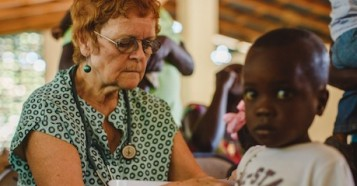 Meds & Foods for Kids founder Dr. Patricia B. Wolff has been treating malnourished chilidren in Haiti since 1988.