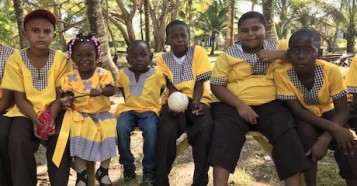In March 2019, school children in a village near Puerto Cortés, Honduras met with UNICEF to talk about the needs of the Garifuna (Black Carib) community.
