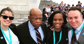 Civil rights legend, Rep. John Lewis with UNICEF USA advocates in Washington, D.C.