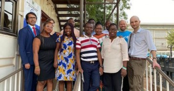 The Primero technical team with UNICEF Ghana CP team and MoGCSP colleagues at UNICEF in Accra, Ghana, where a new version of Primero, a scalable case management tool built by UNICEF and delivered by Microsoft, is being piloted.
