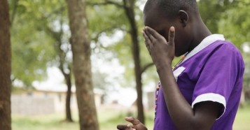 At Kalas Girls Primary School in Uganda's Amudat district in 2018, a student breaks down as she describes running away from home to avoid being subjected to female genital mutilation.