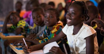 13-year-old Nabyla was able to get back to school with UNICEF's help after armed groups took over her home town in Burkina Faso, forcing the family to flee..