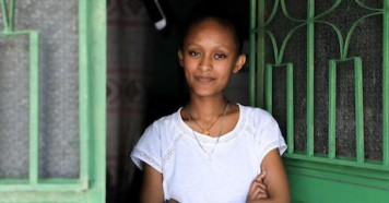 While schools are closed in Addis Ababa, Ethiopia to prevent the spread of COVID-19, 17-year-old Sehinemariam is continuing her education via TV and radio using a distance learning plan developed by the government with support from UNICEF.