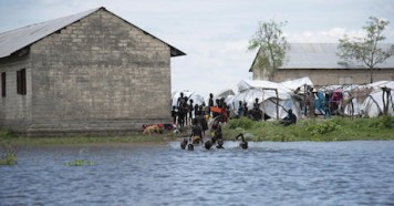 Early and heavy seasonal rains have caused severe flooding in several parts of South Sudan. In Pibor, Jonglei State, many people have taken shelter in and outside the school, which remains on dry land, for now.