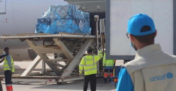 A new shipment of 31,200 additional doses of COVID-19 vaccine was delivered on April 26, 2021 to Nouakchott International Airport in Mauritania as part of the global COVAX initiative.
