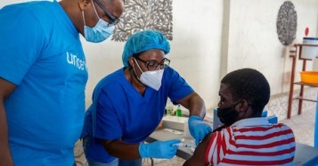 Haiti started vaccinating people against COVID-19 on July 16, 2021, two days after doses arrived through COVAX.