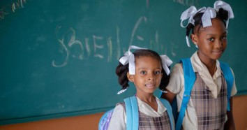 Jasmine and Anise are excited to be starting school on October 4, 2021 at Saint-Anne School in Les Cayes, Haiti. The first day of school was postponed following Haiti's devastating August 14, 2021 earthquake.