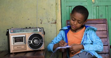 In Ethiopia, Yedidiya attends school via radio through a program developed by the Ministry of Education with support from UNICEF to keep children learning while schools are closed to prevent the spread of the novel coronavirus.