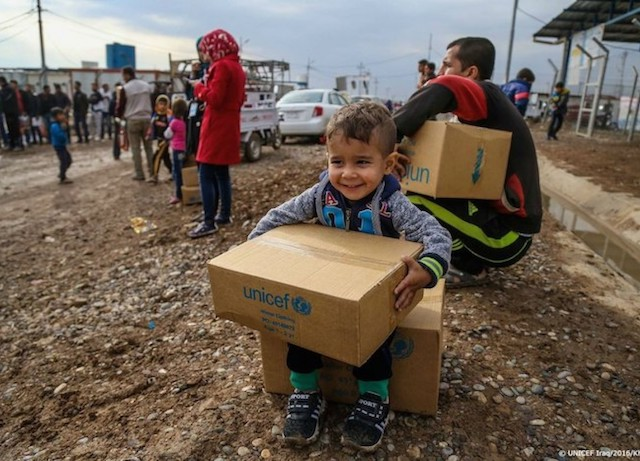 UNICEF aid reaches children in Syria.