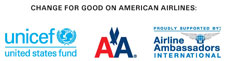UNICEF Change for Good program on American Airlines