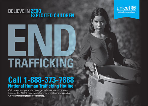 End Trafficking postcard