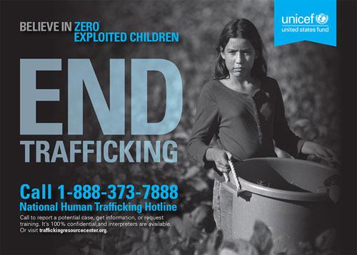 End Trafficking postcard